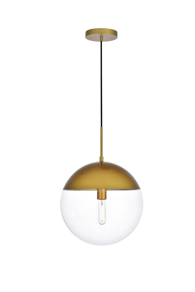 Eclipse 1 Light Br Pendant With Clear Gl Ld6049br